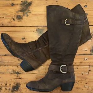 Born Brown Suede Knee High Boots